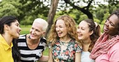 five women smiling