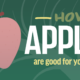 apple are good for your teeth banner